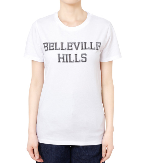 No One(ノーワン)のBELLEVILLE HILLS Logo T-shirt-WHITE(カットソー/cut and sewn)-SS910W-4 詳細画像1