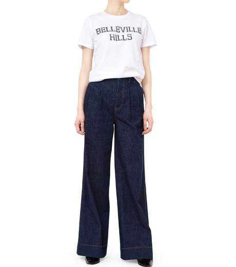 No One(ノーワン)のBELLEVILLE HILLS Logo T-shirt-WHITE(カットソー/cut and sewn)-SS910W-4 詳細画像3