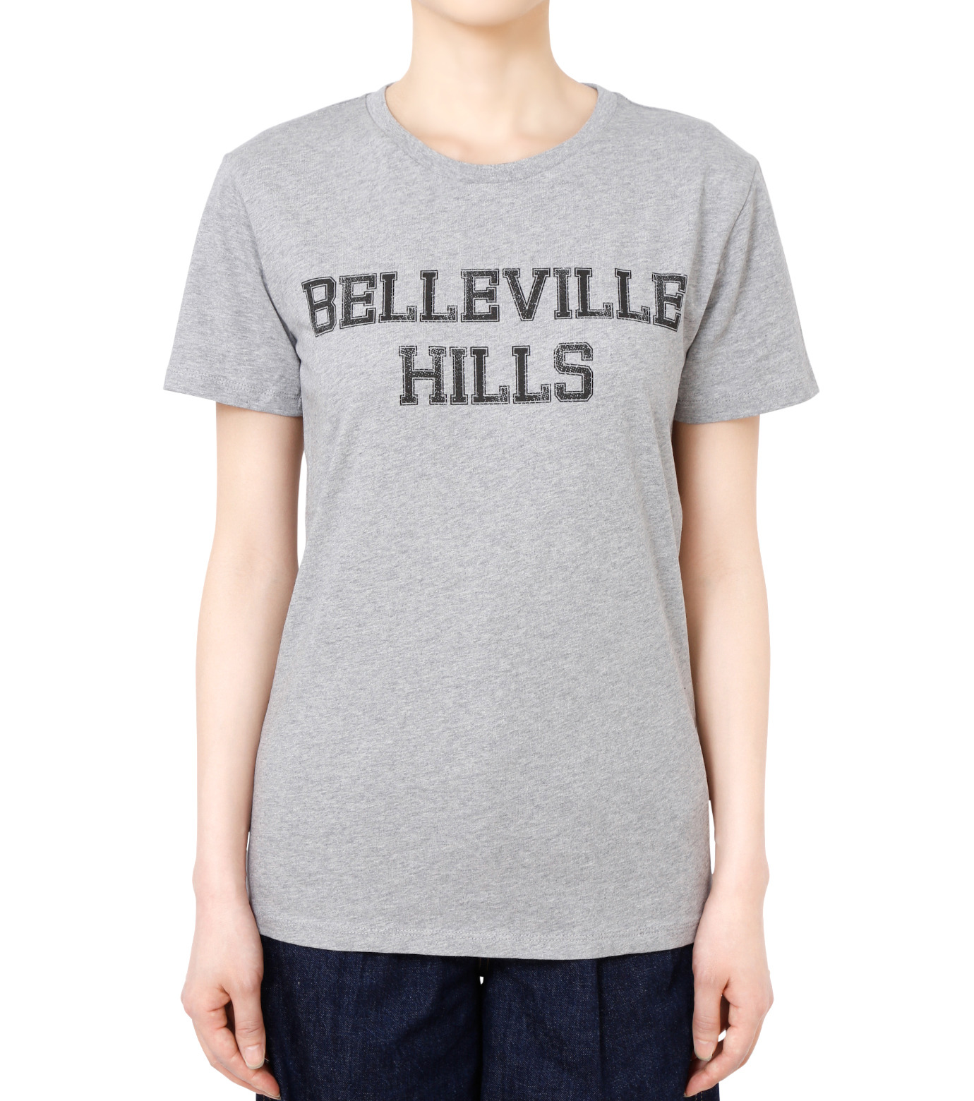 No One(ノーワン)のBELLEVILLE HILLS Logo T-shirt-GRAY(カットソー/cut and sewn)-SS930G-11 拡大詳細画像1
