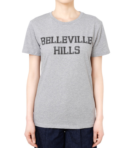 No One(ノーワン)のBELLEVILLE HILLS Logo T-shirt-GRAY(カットソー/cut and sewn)-SS930G-11 詳細画像1