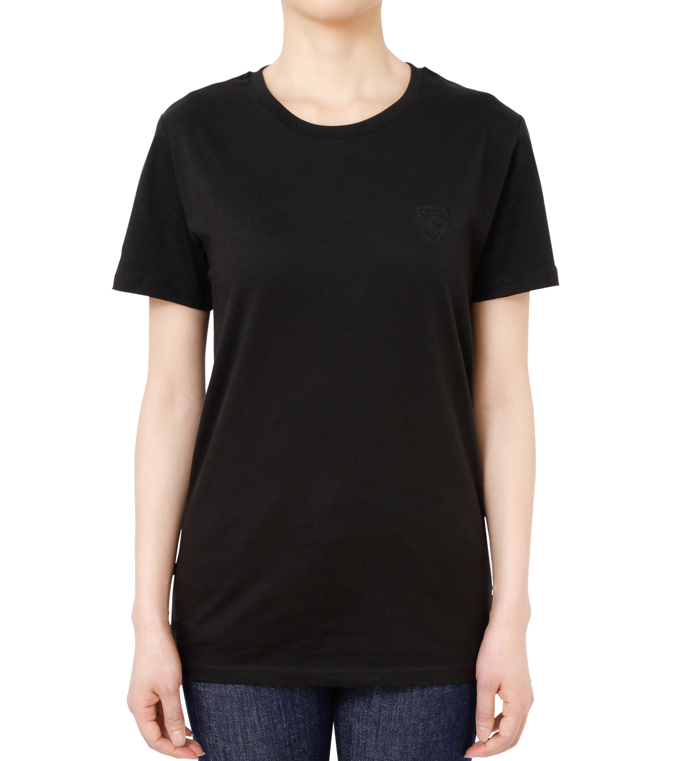 No One(ノーワン)のEmblem T-shirt-BLACK(カットソー/cut and sewn)-SS980B-13 拡大詳細画像1