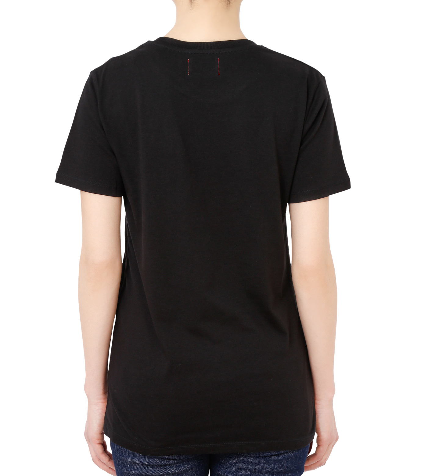 No One(ノーワン)のEmblem T-shirt-BLACK(カットソー/cut and sewn)-SS980B-13 拡大詳細画像2