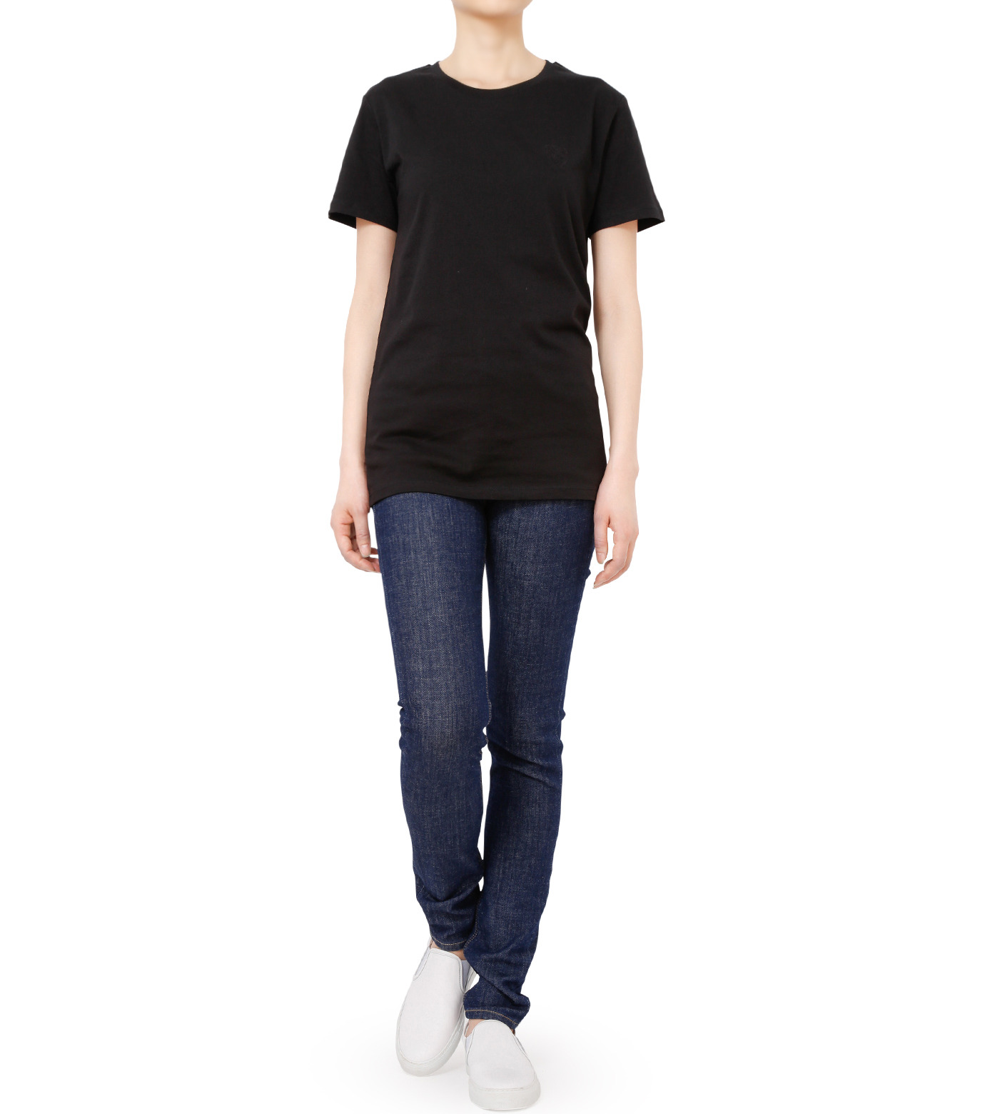 No One(ノーワン)のEmblem T-shirt-BLACK(カットソー/cut and sewn)-SS980B-13 拡大詳細画像3