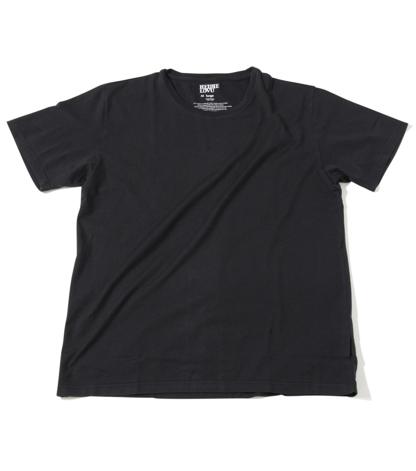 Heddie Lovu(エディー ルーヴ)のU NECK 【MACHO】-BLACK(カットソー/cut and sewn)-ST-M1-00-14A 拡大詳細画像1