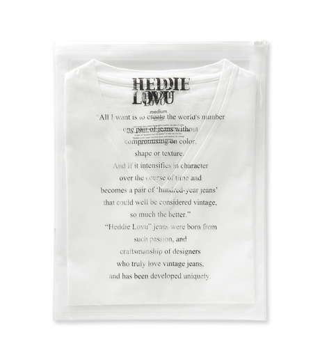 Heddie Lovu(エディー ルーヴ)のV NECK 【MACHO】-WHITE(カットソー/cut and sewn)-ST-M2-00-14A 詳細画像2