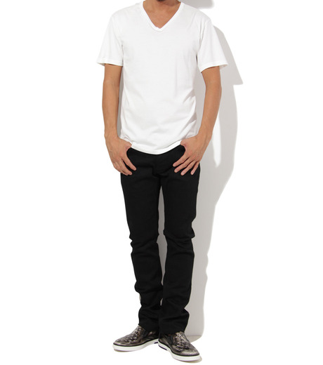 Heddie Lovu(エディー ルーヴ)のV NECK 【MACHO】-WHITE(カットソー/cut and sewn)-ST-M2-00-14A 詳細画像3