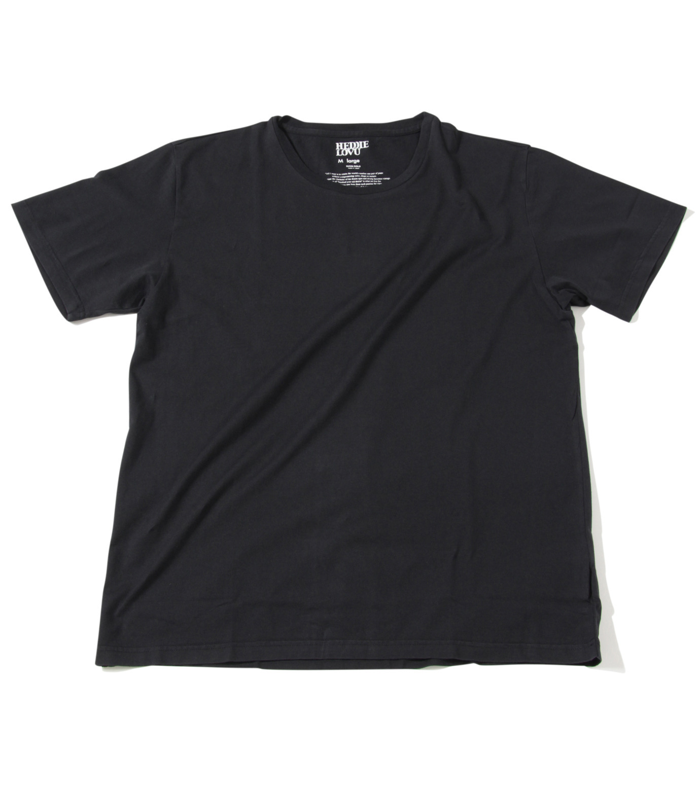 Heddie Lovu(エディー ルーヴ)のU NECK 【SLIM】-BLACK(カットソー/cut and sewn)-ST-S1-00-14A 拡大詳細画像1