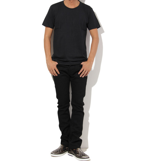 Heddie Lovu(エディー ルーヴ)のU NECK 【SLIM】-BLACK(カットソー/cut and sewn)-ST-S1-00-14A 詳細画像3
