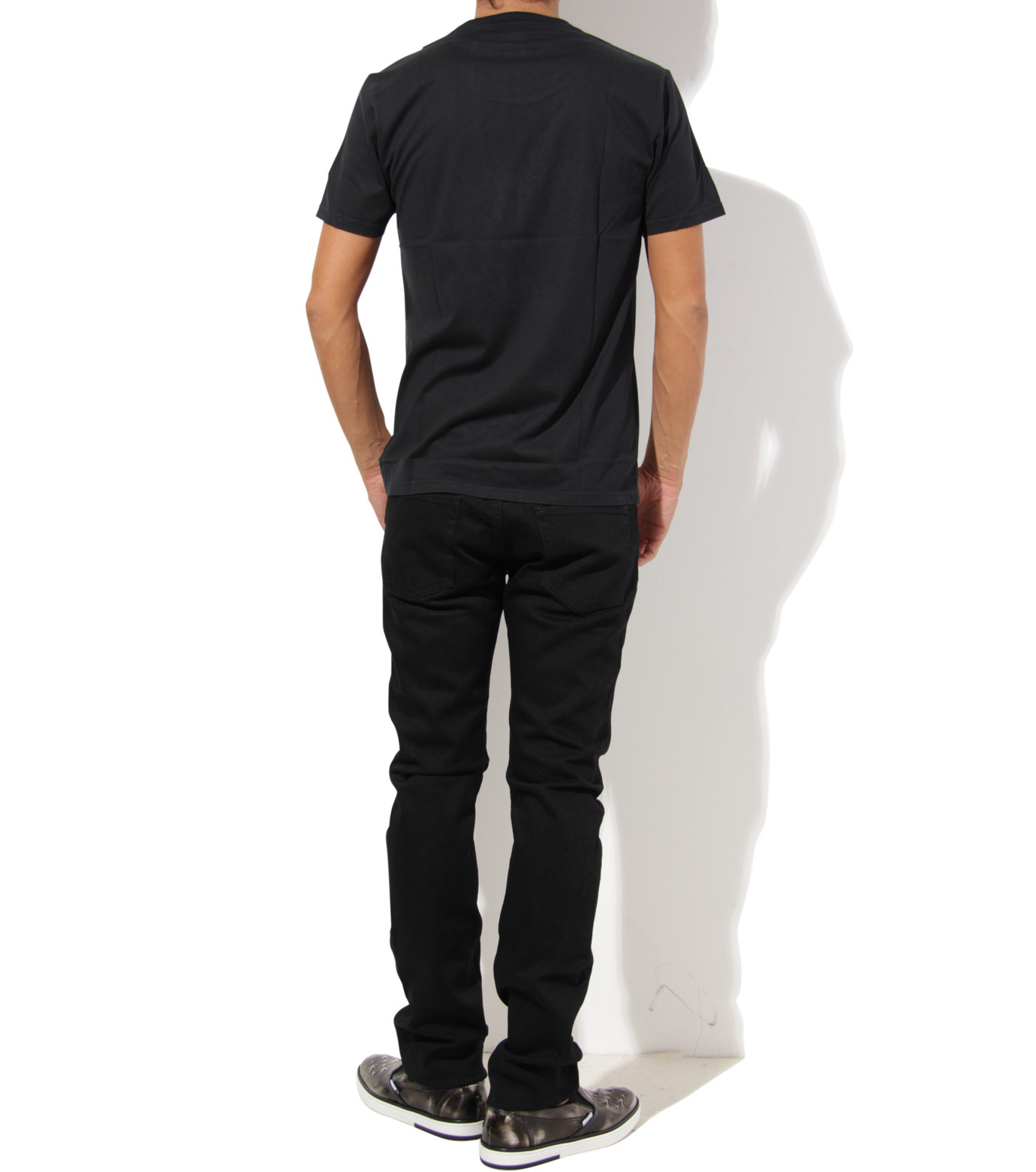 Heddie Lovu(エディー ルーヴ)のU NECK 【SLIM】-BLACK(カットソー/cut and sewn)-ST-S1-00-14A 拡大詳細画像4