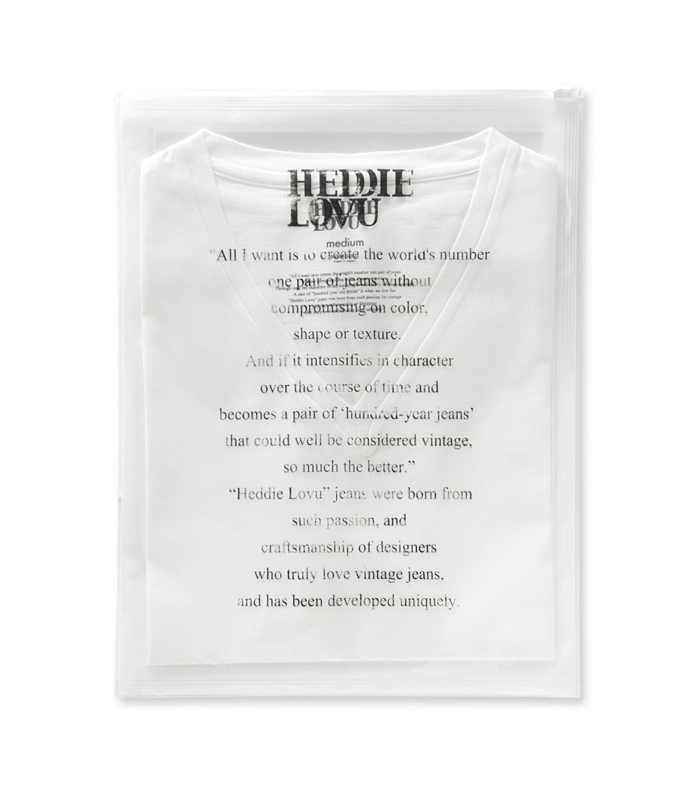 Heddie Lovu(エディー ルーヴ)のV NECK 【SLIM】-WHITE(カットソー/cut and sewn)-ST-S2-00-14A 拡大詳細画像2
