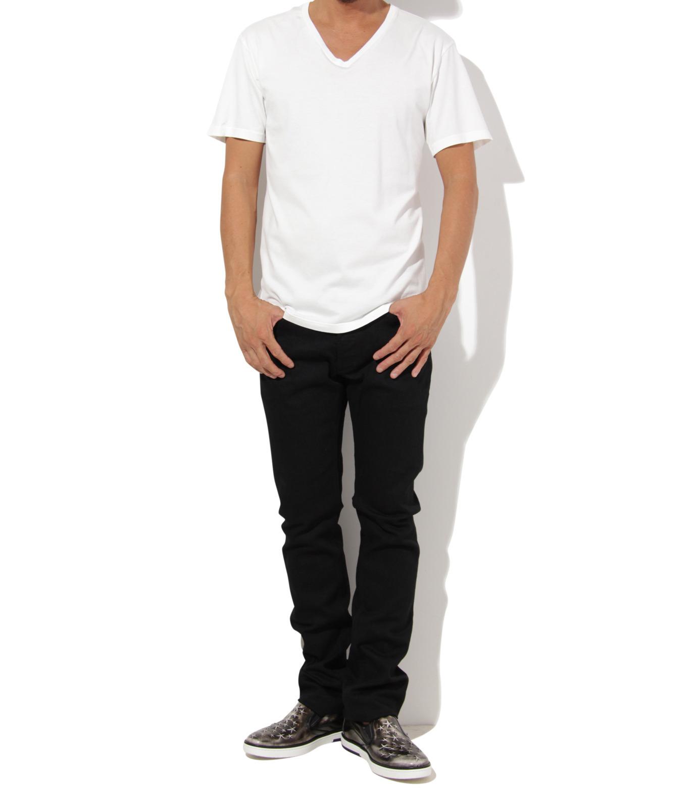 Heddie Lovu(エディー ルーヴ)のV NECK 【SLIM】-WHITE(カットソー/cut and sewn)-ST-S2-00-14A 拡大詳細画像3