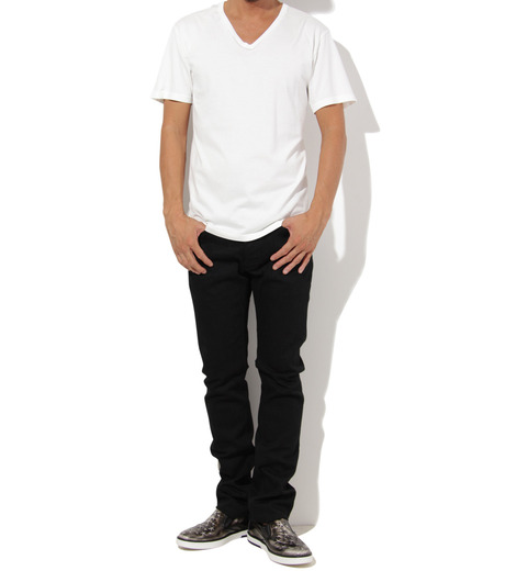 Heddie Lovu(エディー ルーヴ)のV NECK 【SLIM】-WHITE(カットソー/cut and sewn)-ST-S2-00-14A 詳細画像3