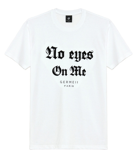 Germeii(ジェルメイ)のNo Eyes On Me Tee-WHITE(トップス/tops)-SW032SS14-4 詳細画像1
