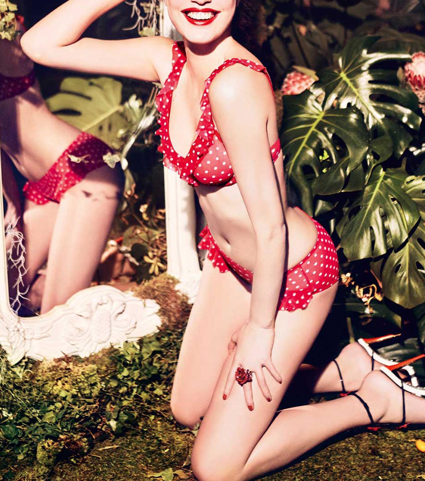Chantal Thomass(シャンタルトーマス)のCapricieuse Bikini-RED(LINGERIE/LINGERIE)-T04570-62 拡大詳細画像4