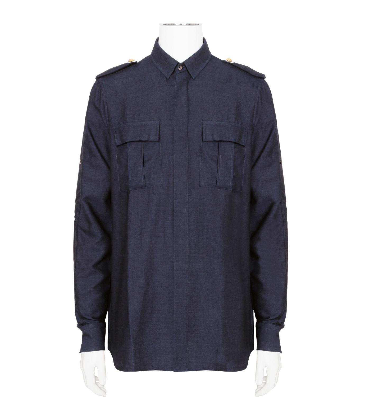 Balmain(バルマン)のDenim Shirt-NAVY(シャツ/shirt)-T113-D556-93 拡大詳細画像1