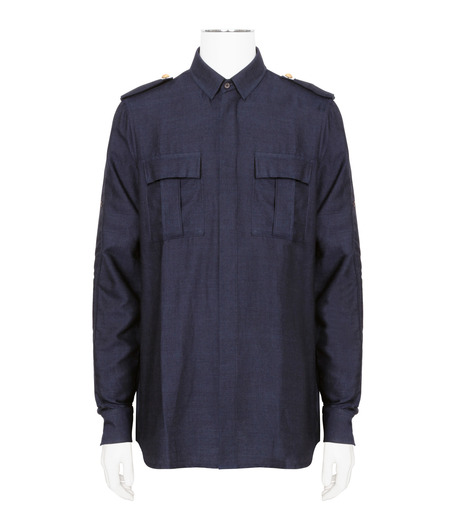 Balmain(バルマン)のDenim Shirt-NAVY(シャツ/shirt)-T113-D556-93 詳細画像1