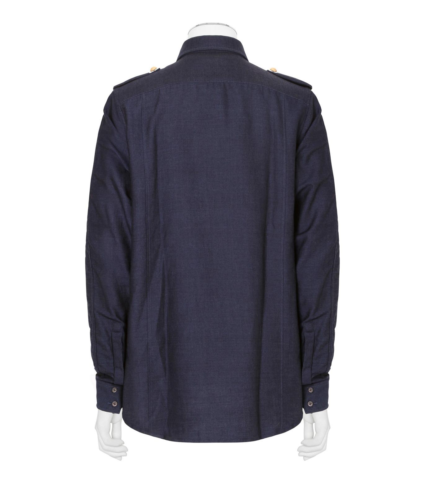 Balmain(バルマン)のDenim Shirt-NAVY(シャツ/shirt)-T113-D556-93 拡大詳細画像2