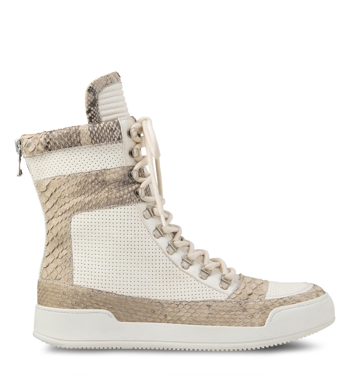Balmain(バルマン)のHi cut sneaker-WHITE-T306-C189-4 拡大詳細画像1