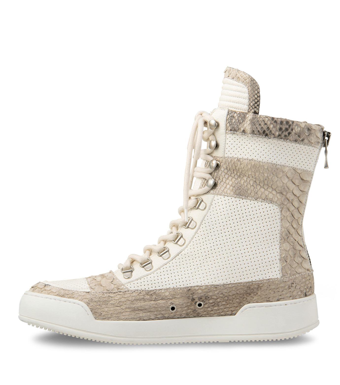 Balmain(バルマン)のHi cut sneaker-WHITE-T306-C189-4 拡大詳細画像2