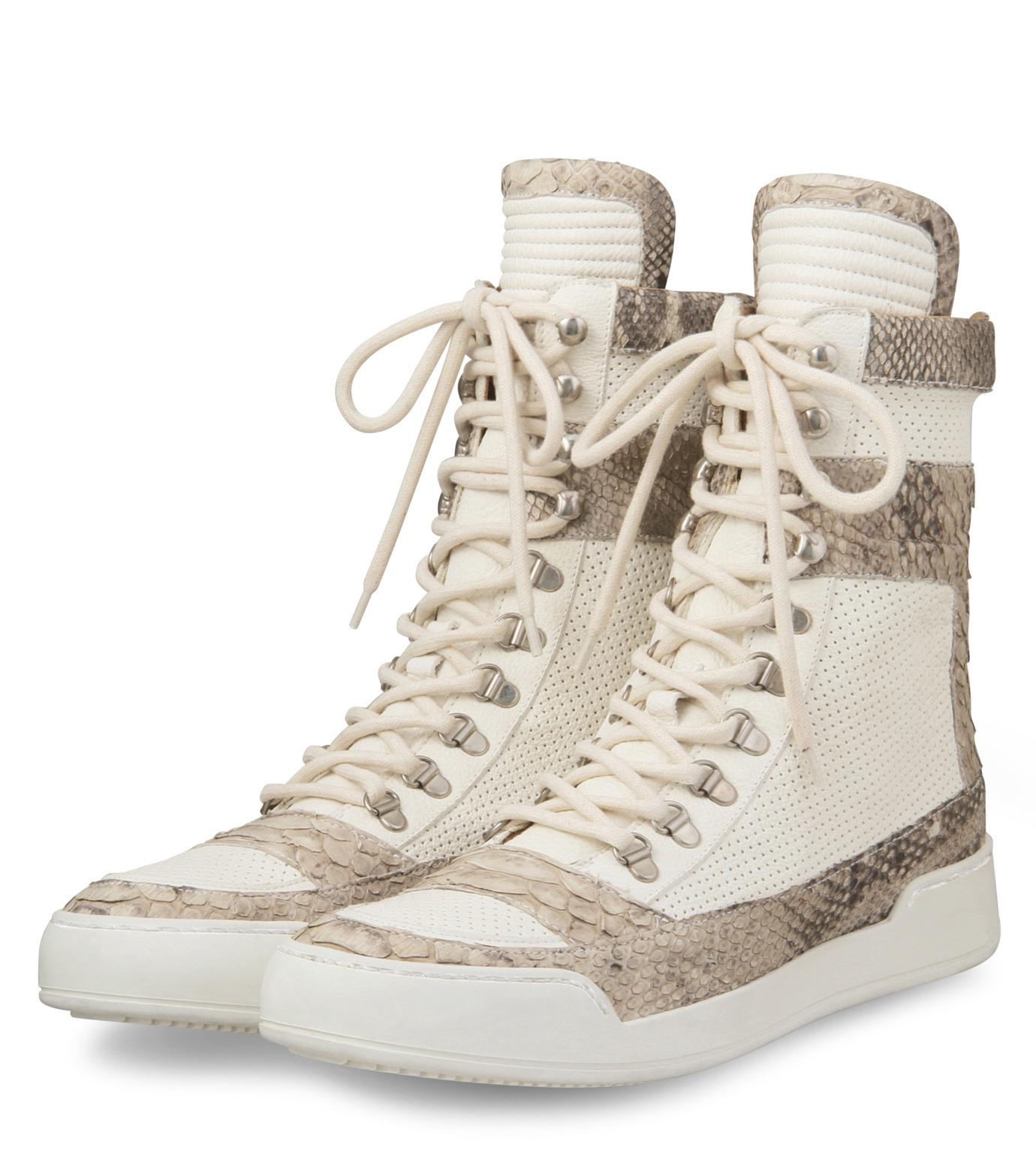 Balmain(バルマン)のHi cut sneaker-WHITE-T306-C189-4 拡大詳細画像4