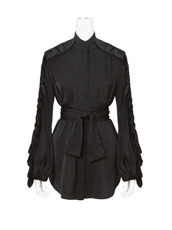 Ellery() Silk Ruffle Detail Shirt