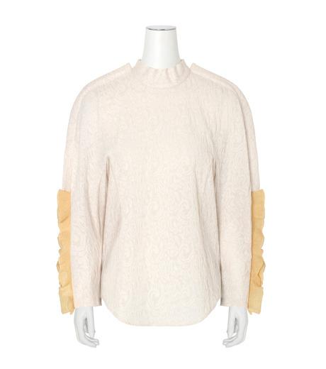 Toga(トーガ)のLace Jacqaurd Shirt-WHITE(BLOUSE/BLOUSE)-TA62-F040-5 詳細画像1