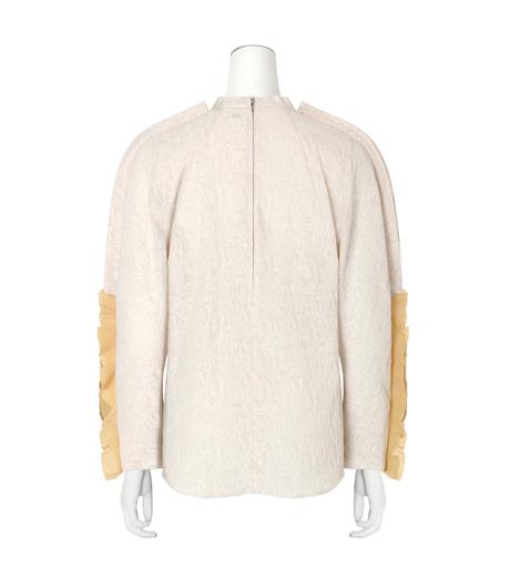 Toga(トーガ)のLace Jacqaurd Shirt-WHITE(BLOUSE/BLOUSE)-TA62-F040-5 詳細画像2