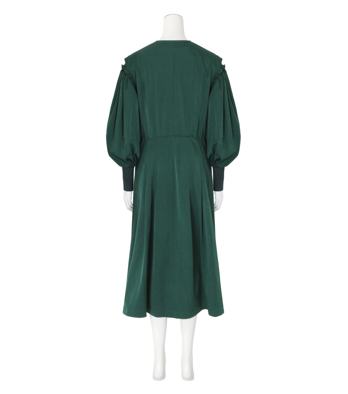 Toga(トーガ)のTaffeta Satin  Dress-GREEN(ワンピース/one piece)-TA62-FH089-22 拡大詳細画像2