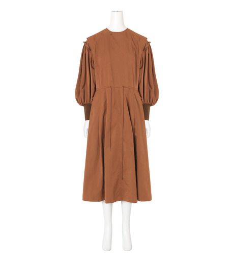 Toga(トーガ)のTaffeta Satin  Dress-BROWN(ワンピース/one piece)-TA62-FH089-42 詳細画像1