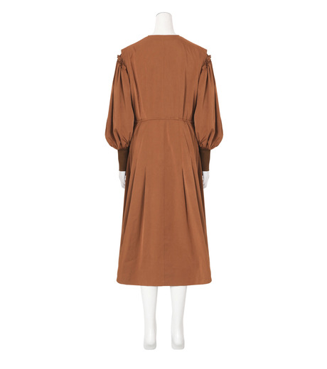 Toga(トーガ)のTaffeta Satin  Dress-BROWN(ワンピース/one piece)-TA62-FH089-42 詳細画像2