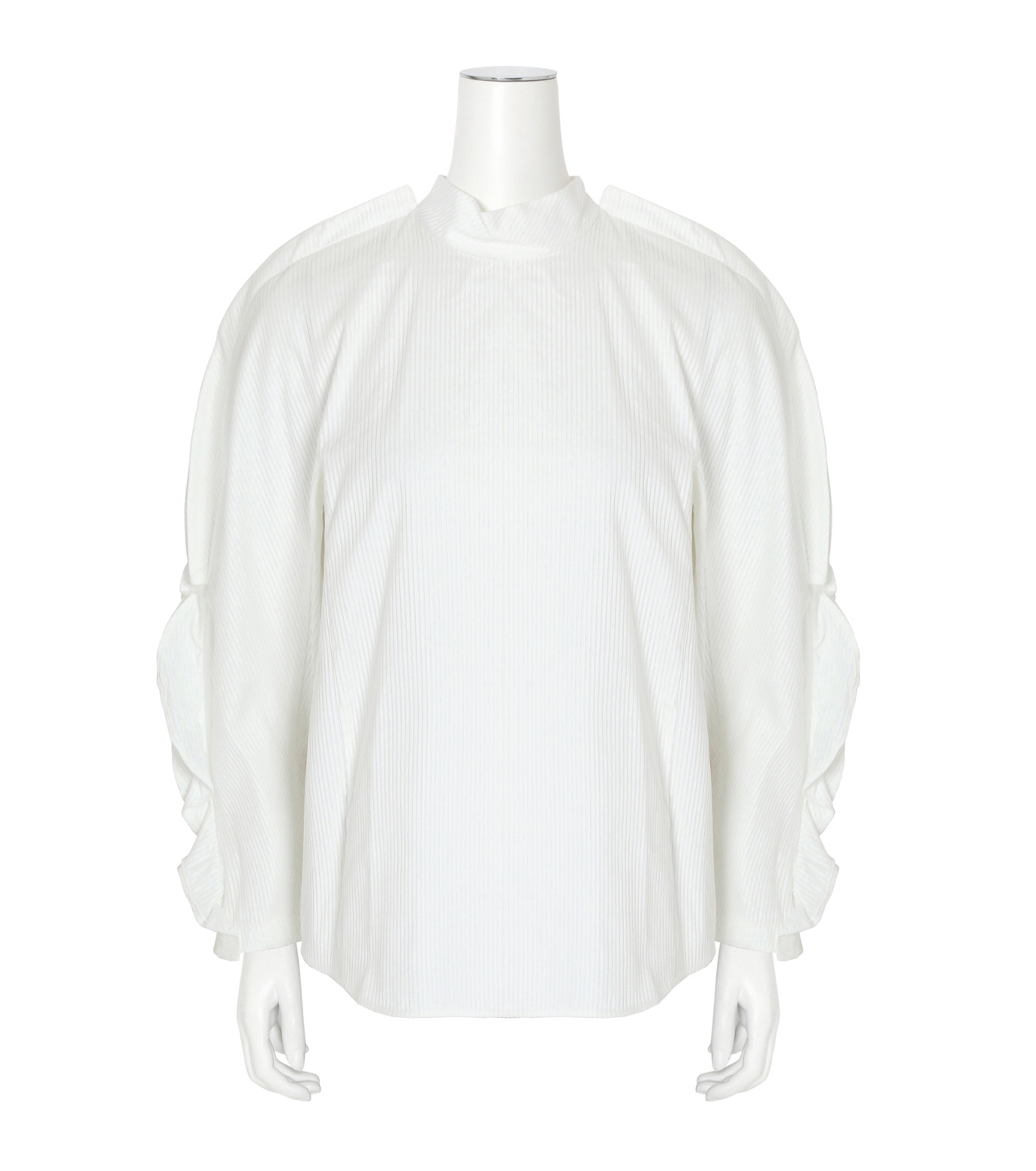 Toga(トーガ)のSatin Shirt-WHITE(BLOUSE/BLOUSE)-TA62-FJ043-4 拡大詳細画像1