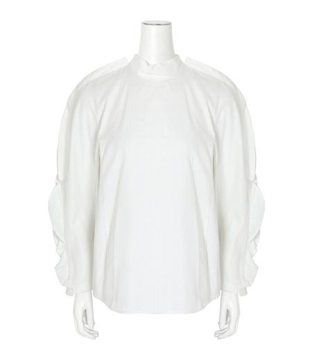 Toga(トーガ)のSatin Shirt-WHITE(BLOUSE/BLOUSE)-TA62-FJ043-4 詳細画像1