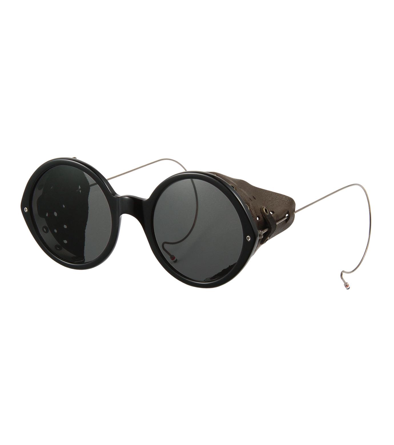 Thom Browne Eye Wear(トム・ブラウン・アイウェア)のSideleather Type-BLACK(アイウェア/eyewear)-TB-013A-13 拡大詳細画像1