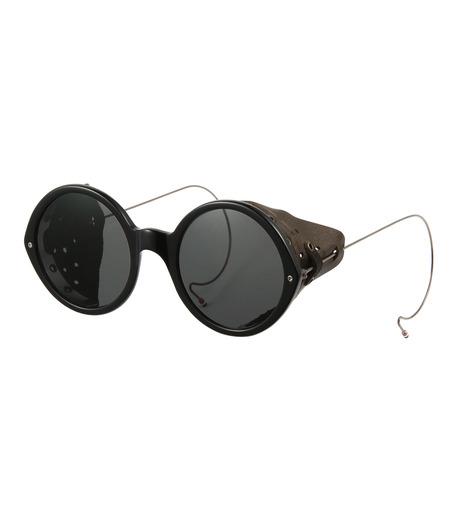 Thom Browne Eye Wear(トム・ブラウン・アイウェア)のSideleather Type-BLACK(アイウェア/eyewear)-TB-013A-13 詳細画像1