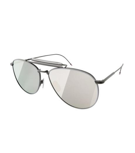 Thom Browne Eye Wear(トム・ブラウン・アイウェア)のTeardrop Silver-BLACK(アイウェア/eyewear)-TB-015-LTD-13 詳細画像1