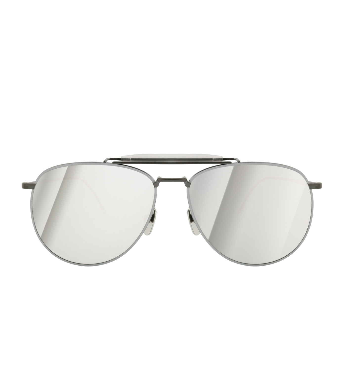 Thom Browne Eye Wear(トム・ブラウン・アイウェア)のTeardrop Silver-BLACK(アイウェア/eyewear)-TB-015-LTD-13 拡大詳細画像3