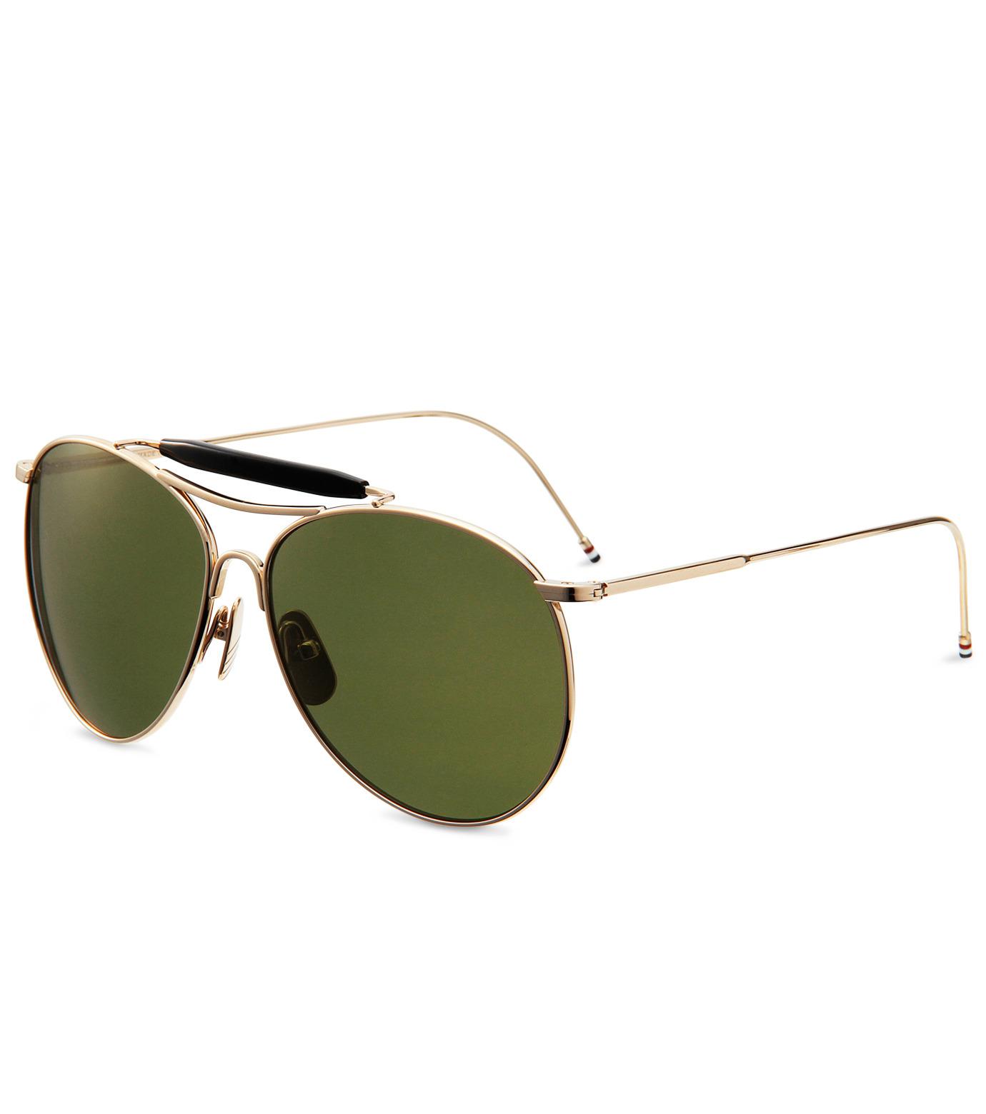 Thom Browne Eye Wear(トム・ブラウン・アイウェア)のShiny 12k gold-GOLD(アイウェア/eyewear)-TB-020B-T-59-2 拡大詳細画像1
