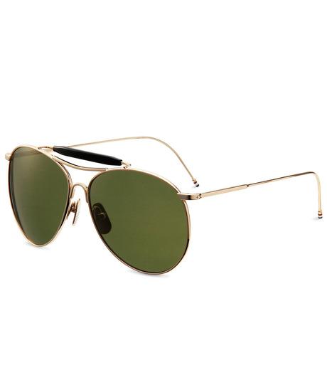 Thom Browne Eye Wear(トム・ブラウン・アイウェア)のShiny 12k gold-GOLD(アイウェア/eyewear)-TB-020B-T-59-2 詳細画像1