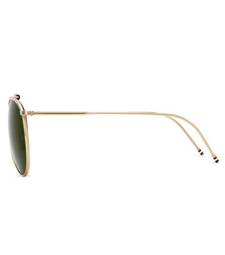Thom Browne Eye Wear(トム・ブラウン・アイウェア)のShiny 12k gold-GOLD(アイウェア/eyewear)-TB-020B-T-59-2 詳細画像2