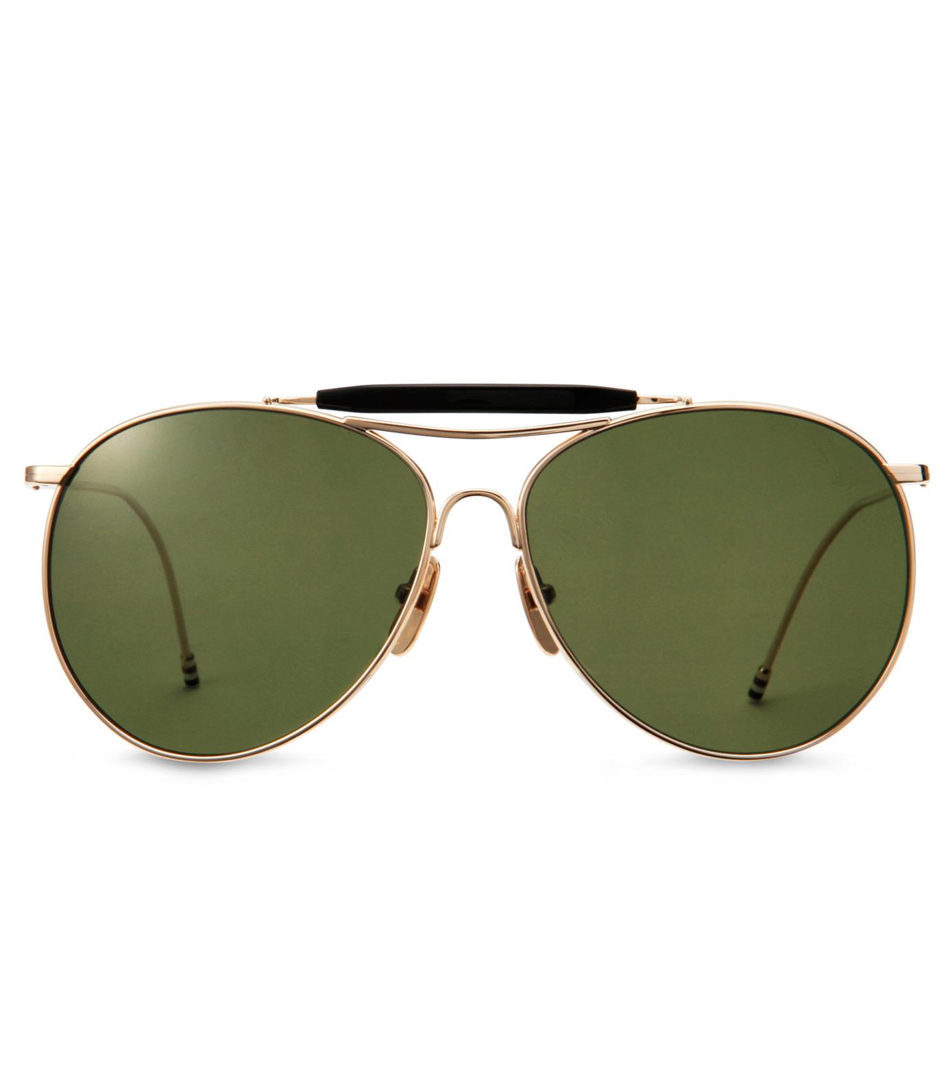 Thom Browne Eye Wear(トム・ブラウン・アイウェア)のShiny 12k gold-GOLD(アイウェア/eyewear)-TB-020B-T-59-2 拡大詳細画像3
