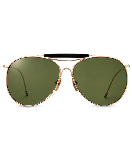 Thom Browne Eye Wear(トム・ブラウン・アイウェア)のShiny 12k gold-GOLD(アイウェア/eyewear)-TB-020B-T-59-2 詳細画像3