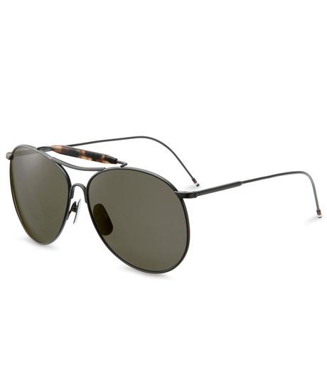 Thom Browne Eye Wear(トム・ブラウン・アイウェア)のBlack iron w-BLACK(アイウェア/eyewear)-TB-020C-T-59-13 詳細画像1