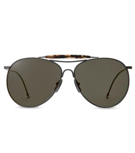 Thom Browne Eye Wear(トム・ブラウン・アイウェア)のBlack iron w-BLACK(アイウェア/eyewear)-TB-020C-T-59-13 詳細画像3