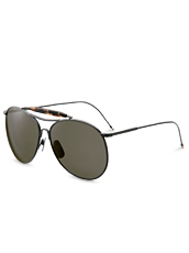 Thom Browne Eye Wear Black iron w
