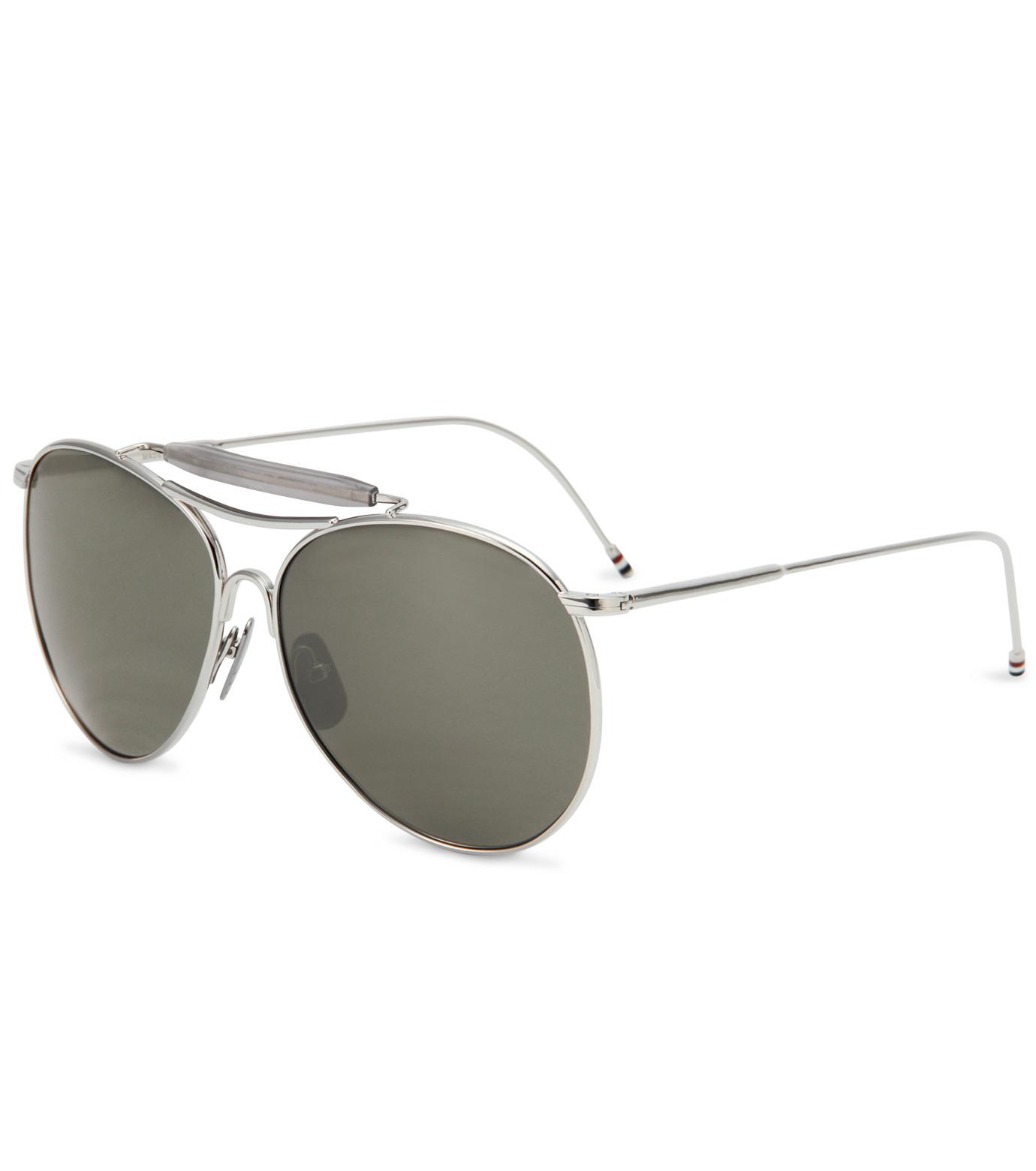 Thom Browne Eye Wear(トム・ブラウン・アイウェア)のShiny silver w-SILVER(アクセサリー/accessory)-TB-020D-T-59-1 拡大詳細画像1