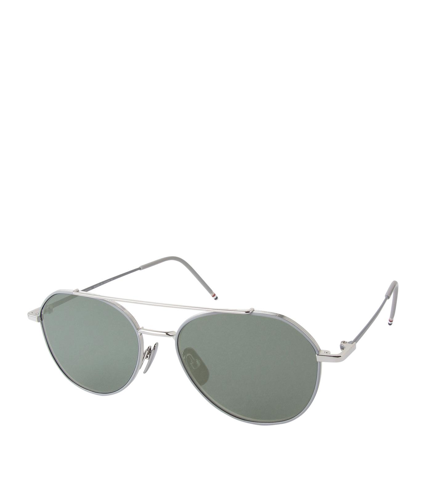 Thom Browne Eye Wear(トム・ブラウン・アイウェア)のTear Drop Slv Frame-SILVER(アイウェア/eyewear)-TB-105-B-1 拡大詳細画像1