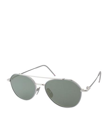 Thom Browne Eye Wear(トム・ブラウン・アイウェア)のTear Drop Slv Frame-SILVER(アイウェア/eyewear)-TB-105-B-1 詳細画像1