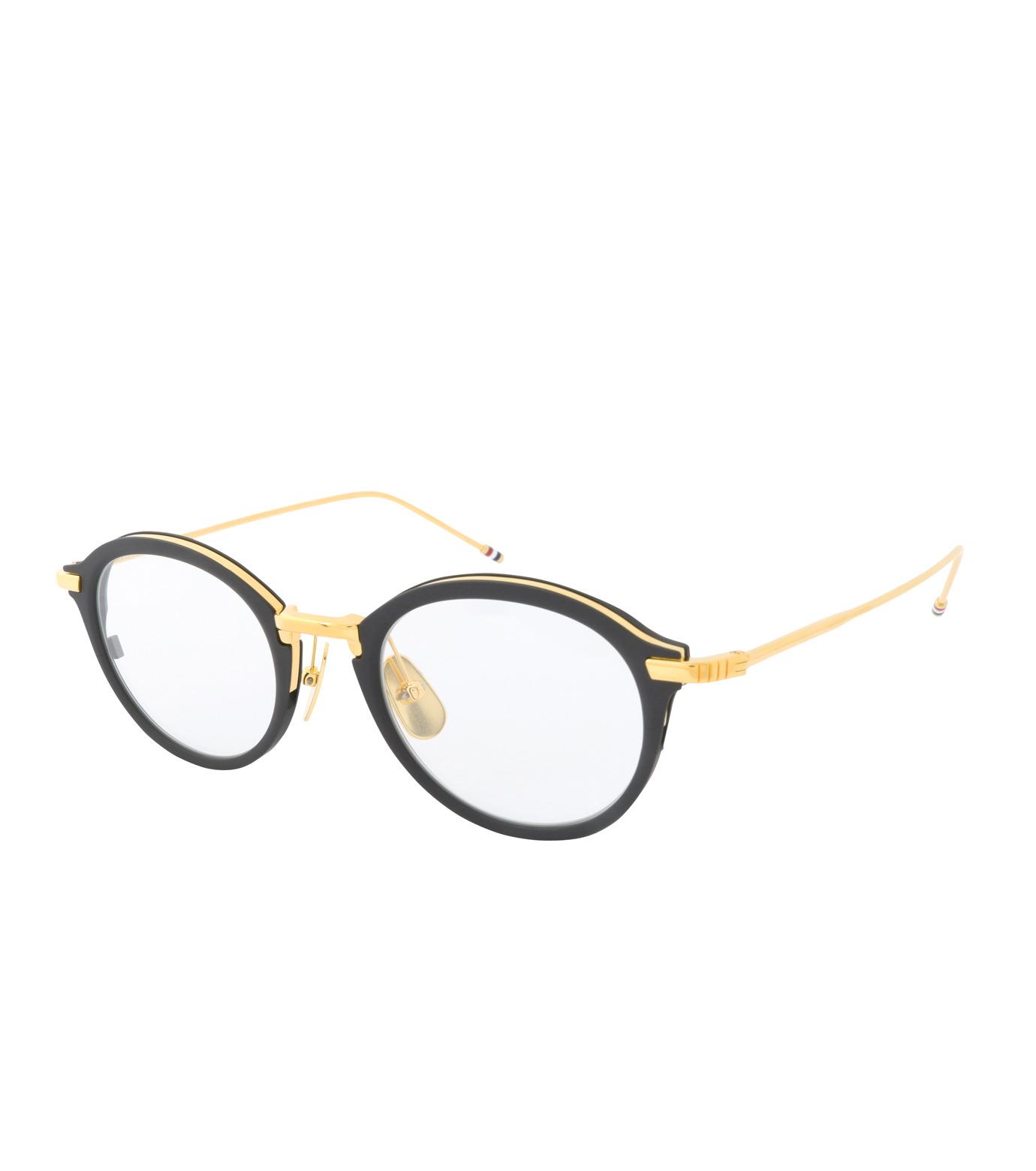 Thom Browne Eye Wear(トム・ブラウン・アイウェア)のRound Clear Lens-BLACK(アイウェア/eyewear)-TB-110-A-13 拡大詳細画像1