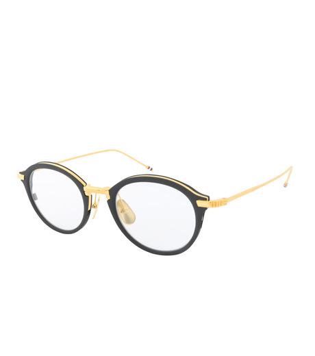 Thom Browne Eye Wear(トム・ブラウン・アイウェア)のRound Clear Lens-BLACK(アイウェア/eyewear)-TB-110-A-13 詳細画像1