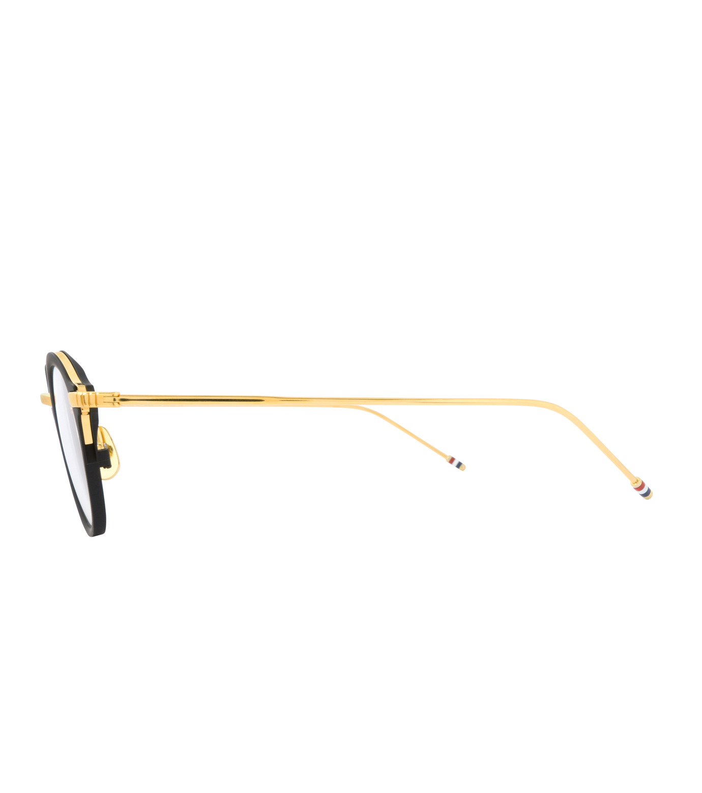 Thom Browne Eye Wear(トム・ブラウン・アイウェア)のRound Clear Lens-BLACK(アイウェア/eyewear)-TB-110-A-13 拡大詳細画像2